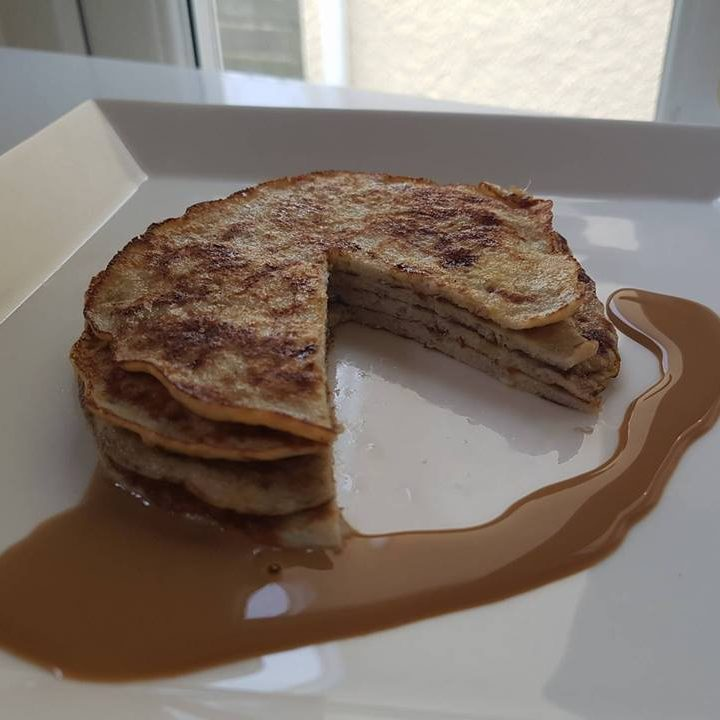 Easy Two Ingredient Banana Pancakes